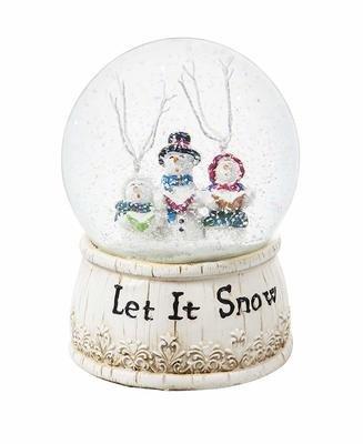 Let It Snow Musical Snow Globe