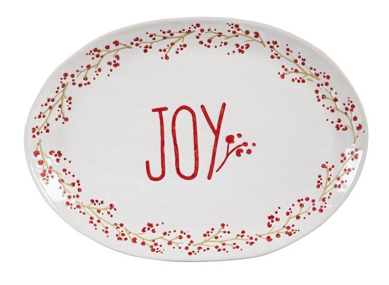 Holiday Farmhouse Ceramic Serving Platter