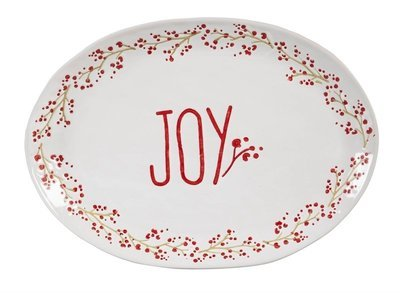 Holiday Farmhouse Ceramic Serving Platter