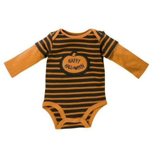 """Happy Halloween"" Long Sleeve Onesie"