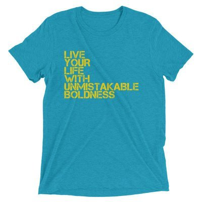 """Boldness"" Unisex Short sleeve t-shirt"