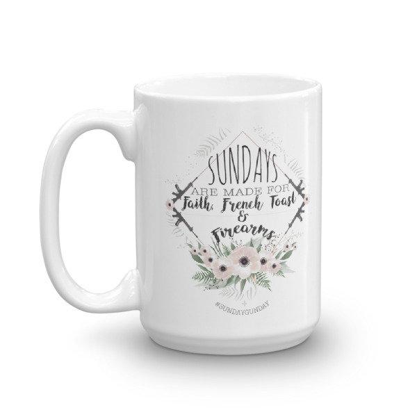 """""""Sundays Are Made For"""" 15oz Mug"""