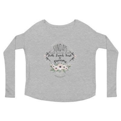 """""""Sundays Are Made For"""" Ladies' Long Sleeve Tee"""