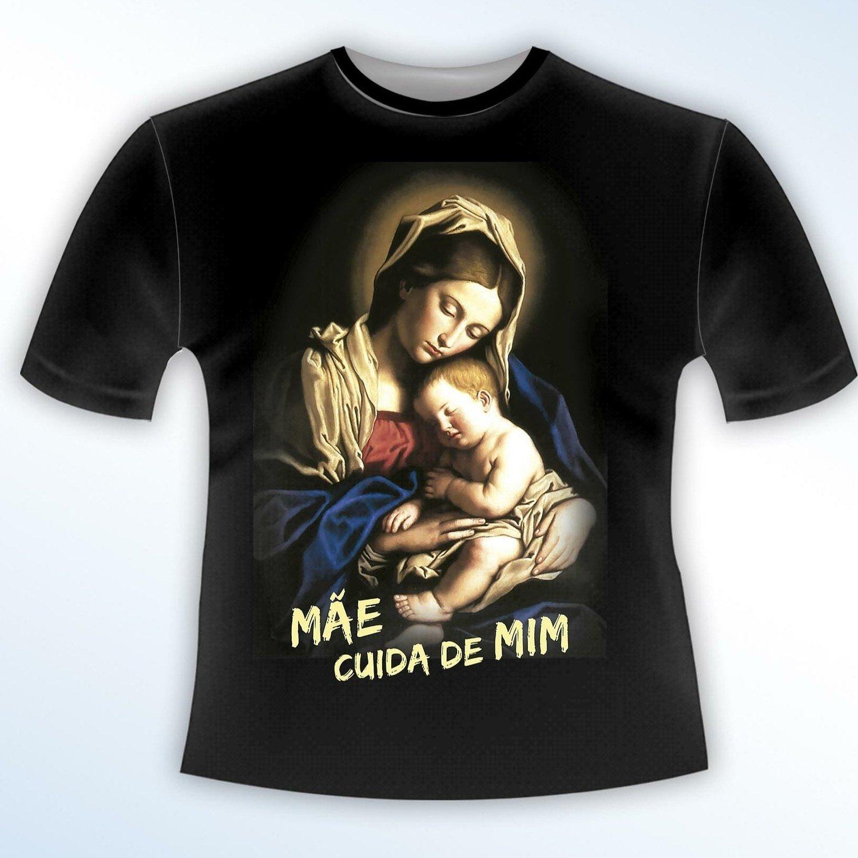 Camiseta MÃE CUIDA DE MIM