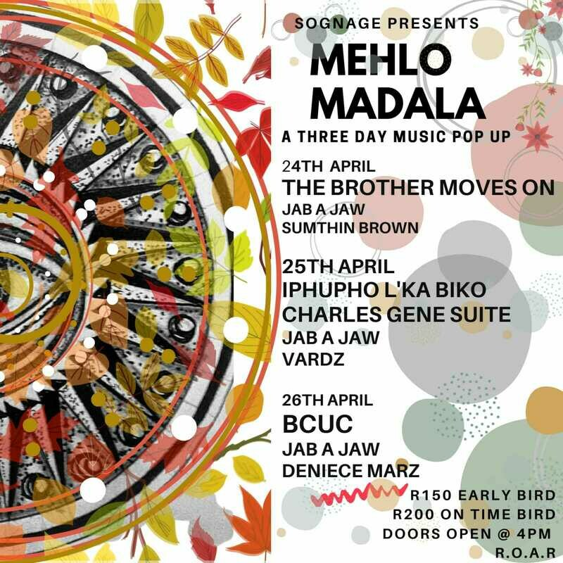 Mehlo Madala - Saturday 24 April, Early Bird
