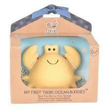 Tikiri - Ocean Buddies - Crab - Natural Rubber Baby Rattle
