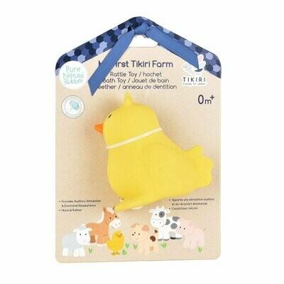 Tikiri - Chick Toy Natural Rubber Rattle