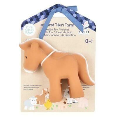 Tikiri - Horse Toy Natural Rubber Rattle