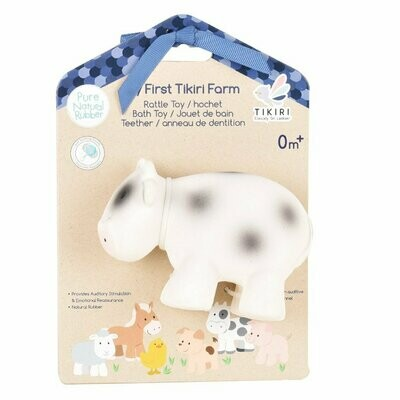 Tikiri - Cow Toy Natural Rubber Rattle