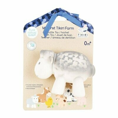 Tikiri - Sheep Toy Natural Rubber Rattle
