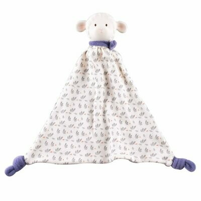 Lucas Lamb Rubber-Head Comforter With Blue Scarf