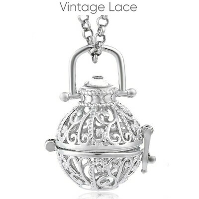 Mexican Bola's - Pregnancy Chimes - Vintage Lace
