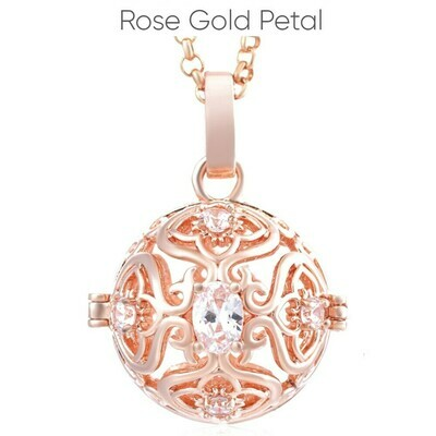 Mexican Bola's - Pregnancy Chimes - Rose Gold Rose Petal