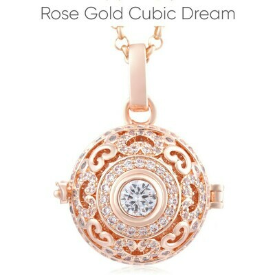 Mexican Bola's - Pregnancy Chimes - Dream Cubic Zirconia Rose Gold