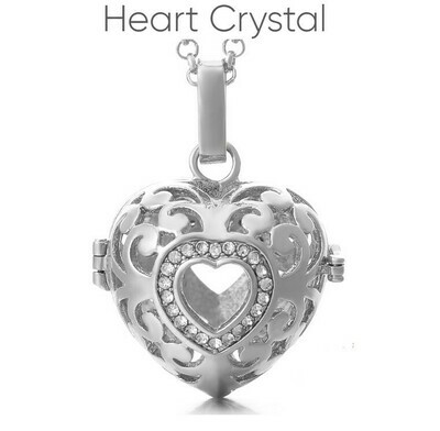 Mexican Bola's - Pregnancy Chimes - Heart Crystal