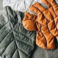 Linen Leaf Playmat