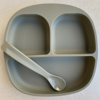 Divided Suction Plate and Spoon