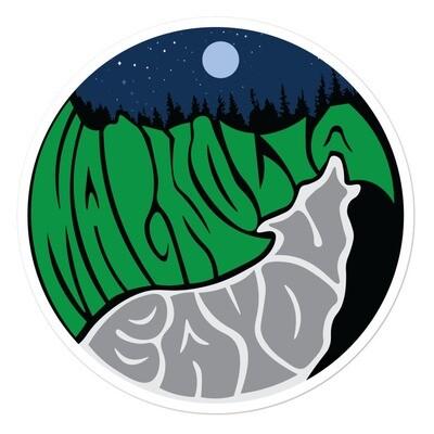 Magnolia Bayou Wolf sticker