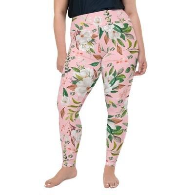 Pink Magnolia Plus Size Leggings