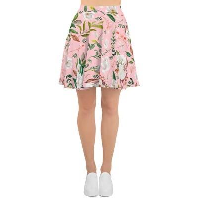 Pink Magnolia Skater Skirt