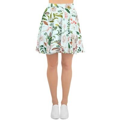 Light Blue Magnolia Skater Skirt
