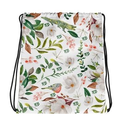 Magnolia Drawstring bag