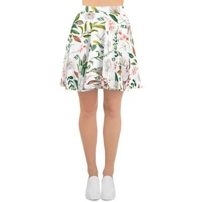 White Magnolia Skater Skirt