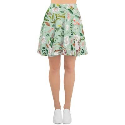Light Green Magnolia Skater Skirt