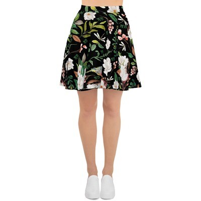 Black Magnolia Skater Skirt