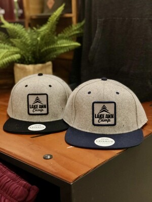 Wool Blend Flat Brim Hat