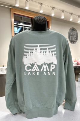 Striped Tree-line Crew Sweatshirt
