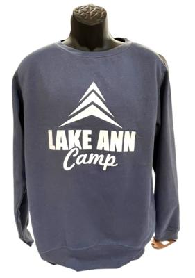 Logo Crewneck Sweatshirt- Stone Blue