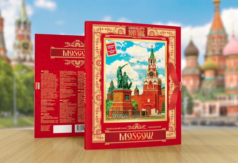 Шоколадный набор «Москва» красный