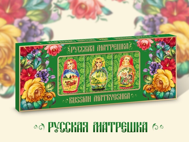 Шоколадный набор «Русская Матрёшка. Лето»