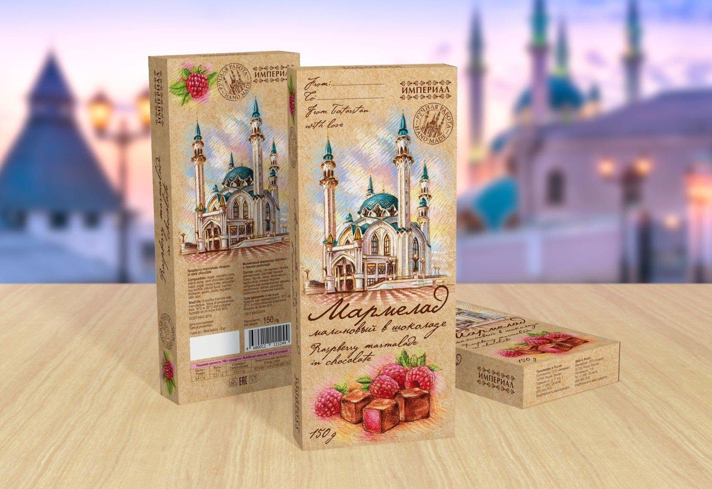 """Малиновый мармелад """"Казань"""" в тёмном шоколаде"""