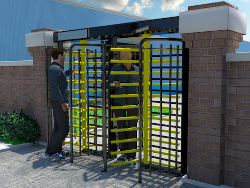 Full Height Double Pedestrian Turnstile