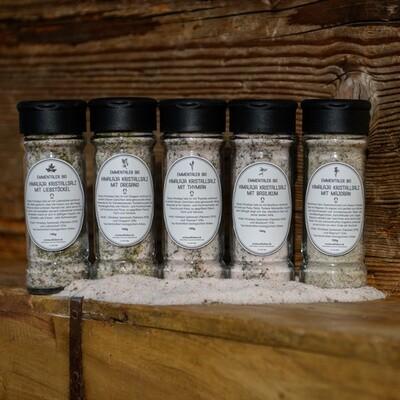 Emmentaler Bio Himalaya Kristallsalz mit Basilikum, Thymian, Oregano, Majoran oder Liebstöckel