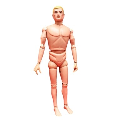 Restored Vintage Action Man Classic Painted Head -Hard Hands