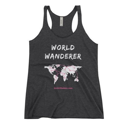 World Wanderer - White Lettering-Tank Top