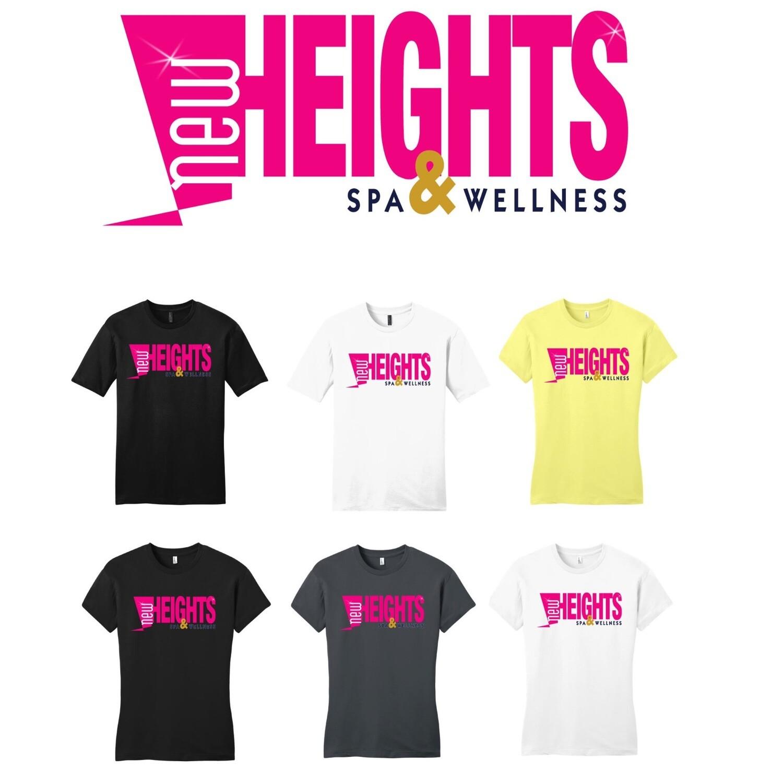 "New Heights Tee White ""womens fit Medium"""