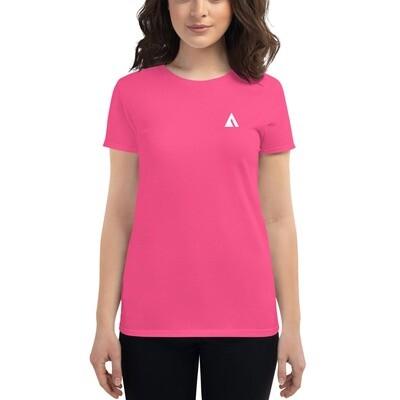 Women's short sleeve t-shirt with white logo