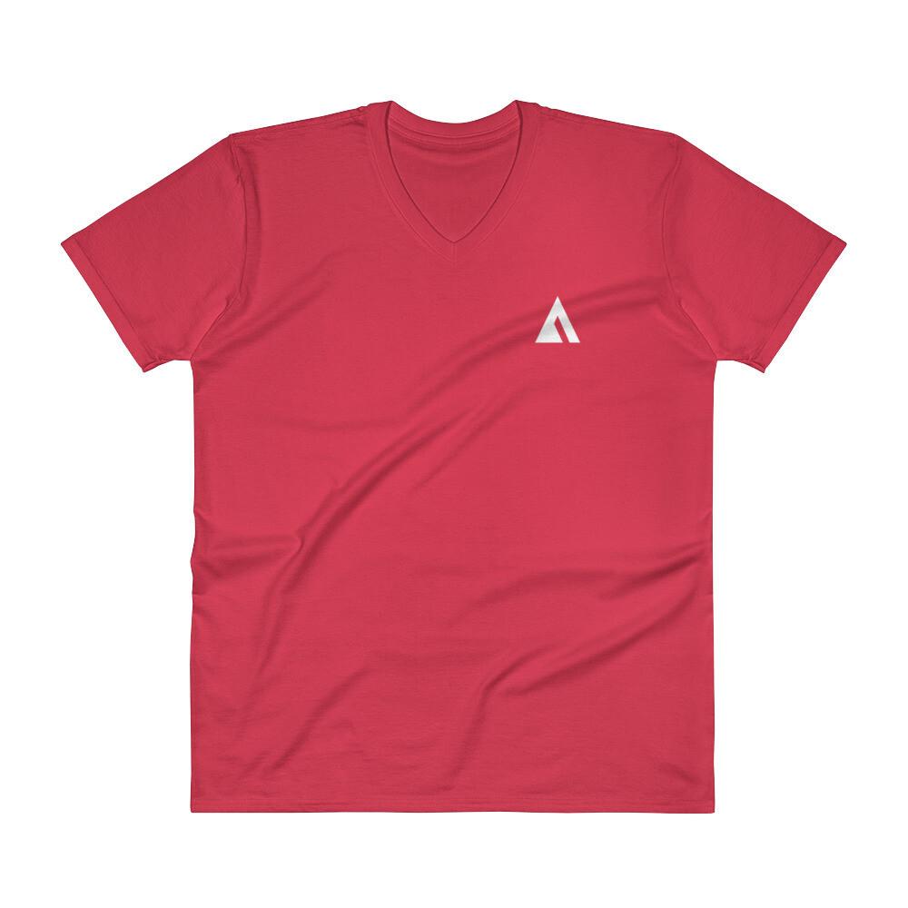 V-Neck T-Shirt with Ascend Logo
