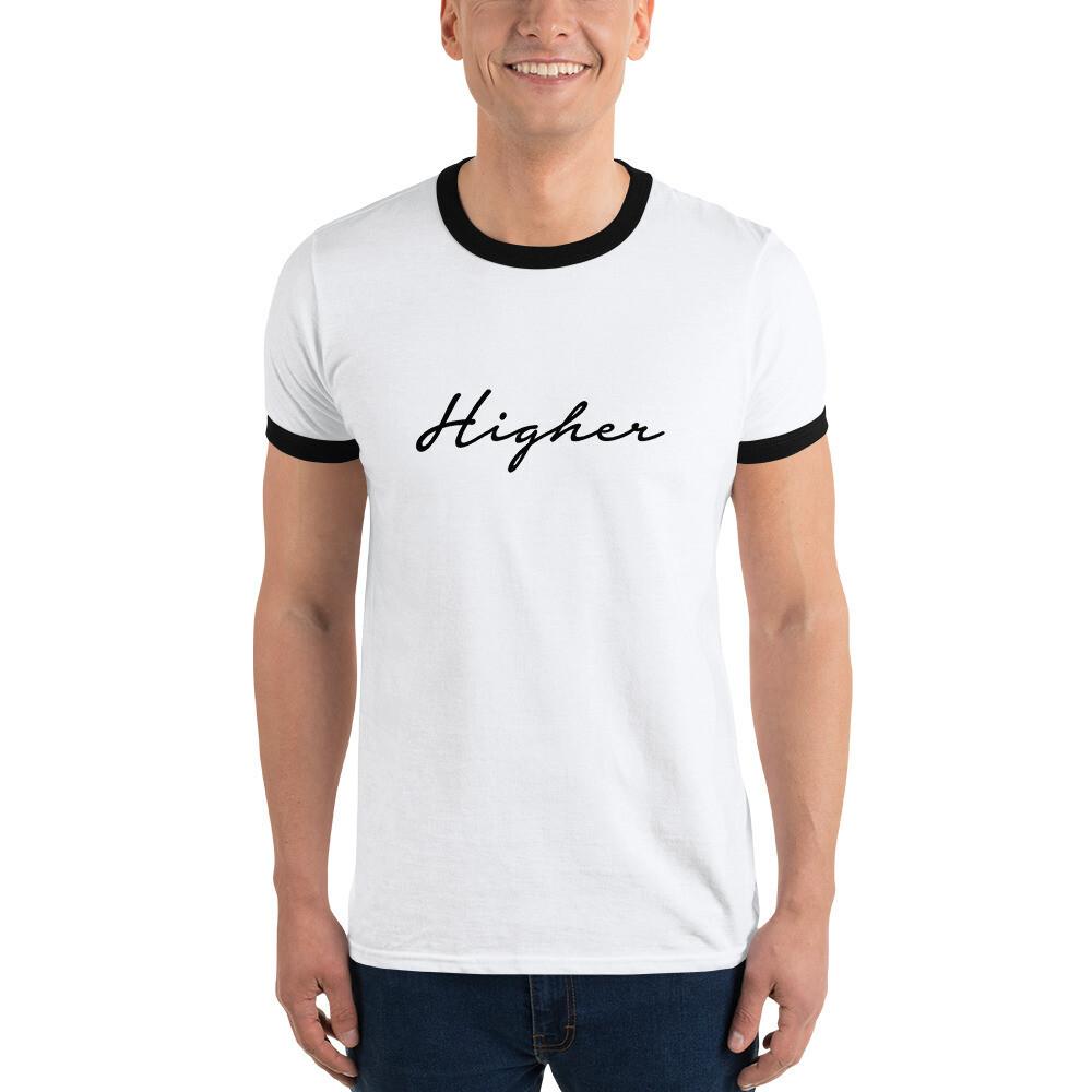 """Black & White """"Higher"""" Ringer T-Shirt"""