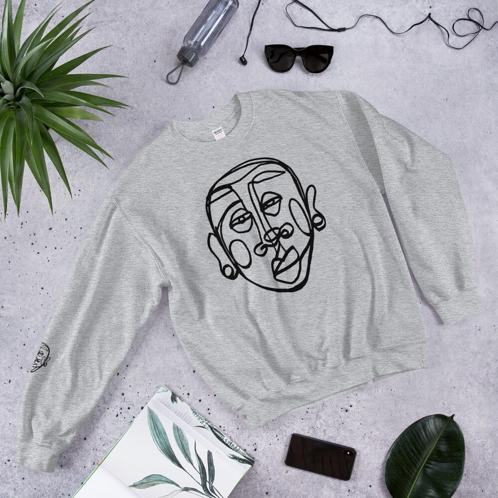 """Face Yourself' Solo Unisex Crewneck Sweatshirt"