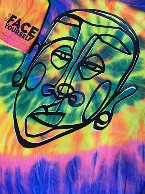 Face Yourself Tie Dye  Adult Unisex + Youth