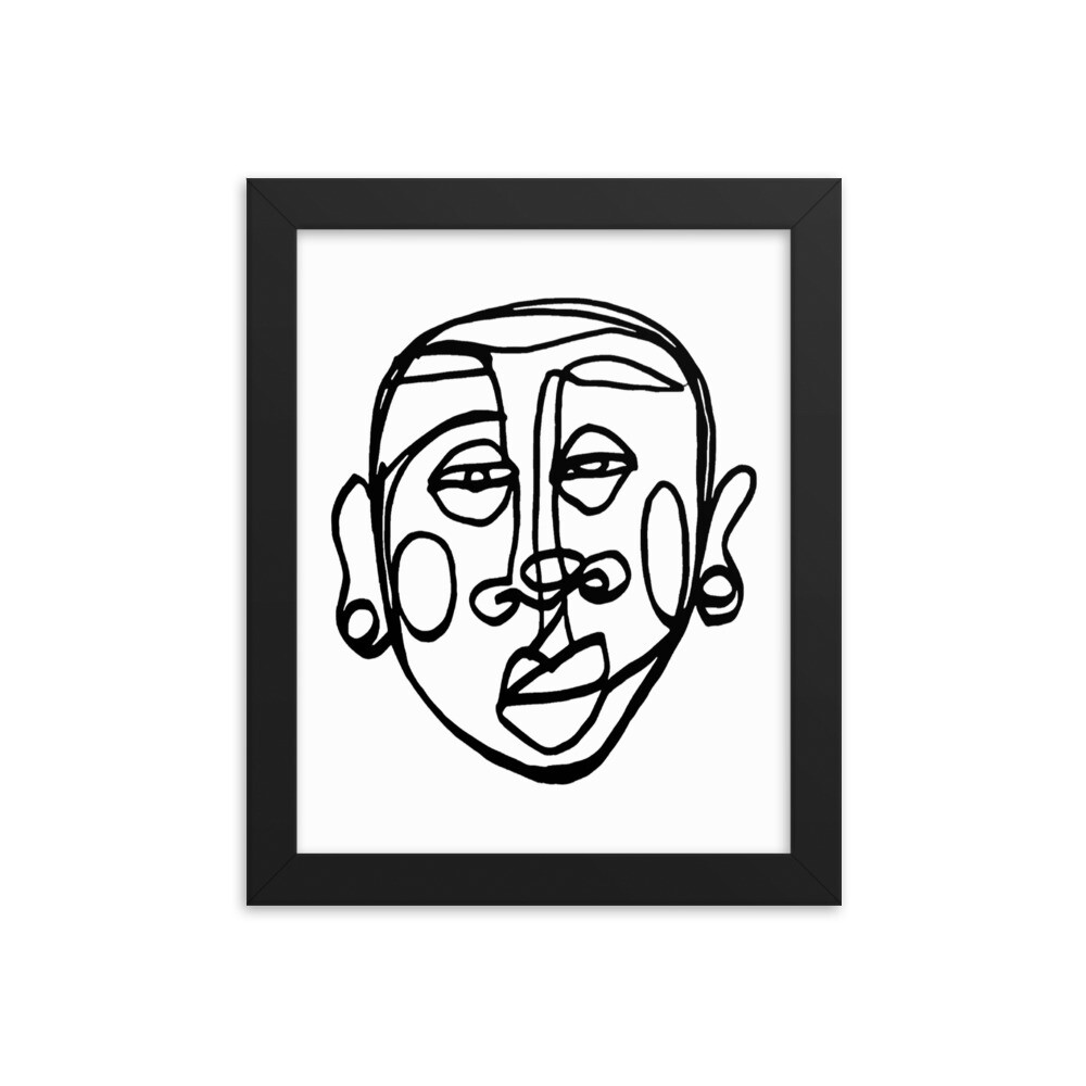 'Face Yourself' Framed Print