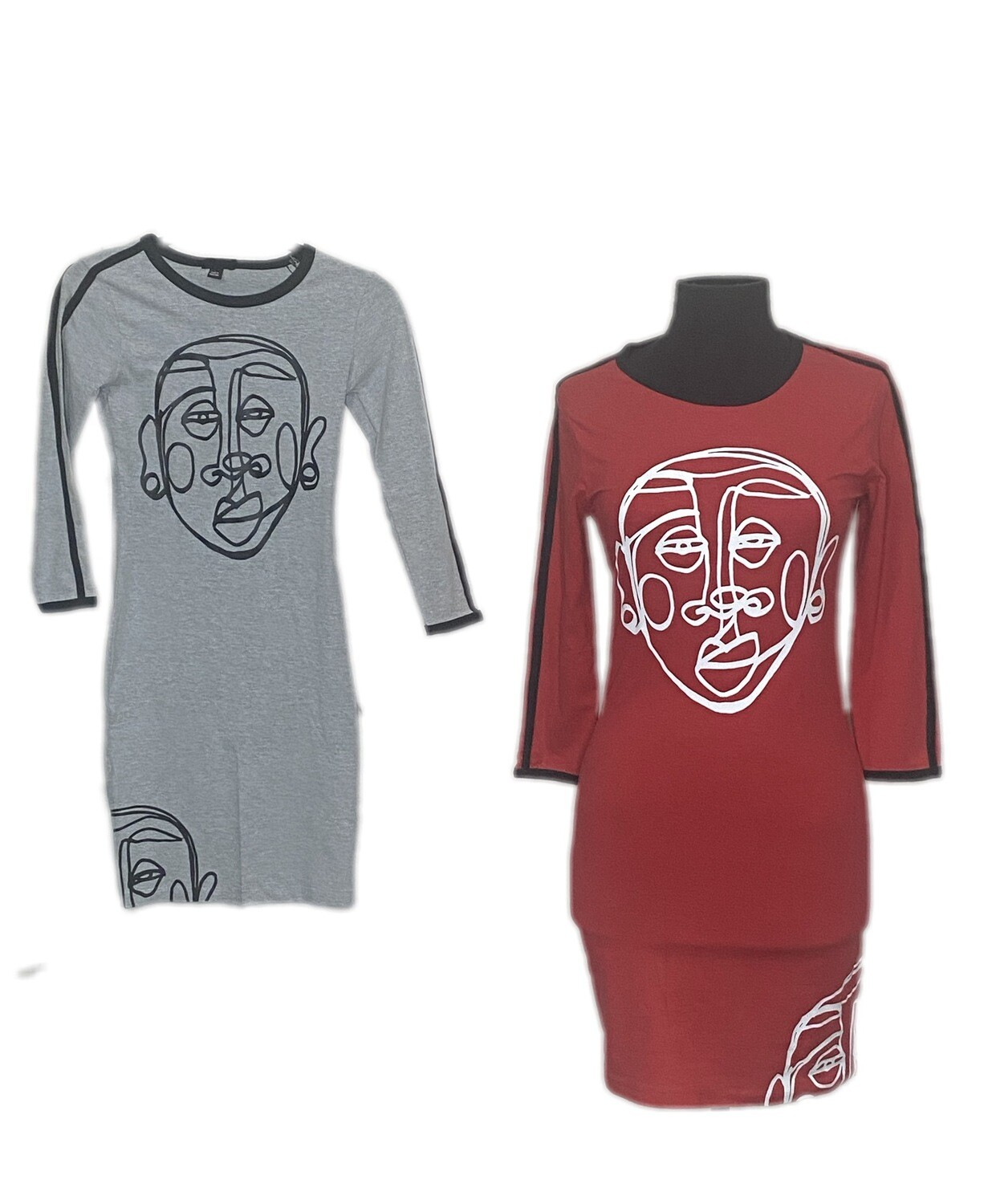 'Face Yourself' Dress