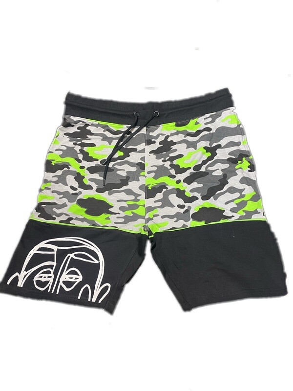 'Face Yourself' Slime Camo Shorts
