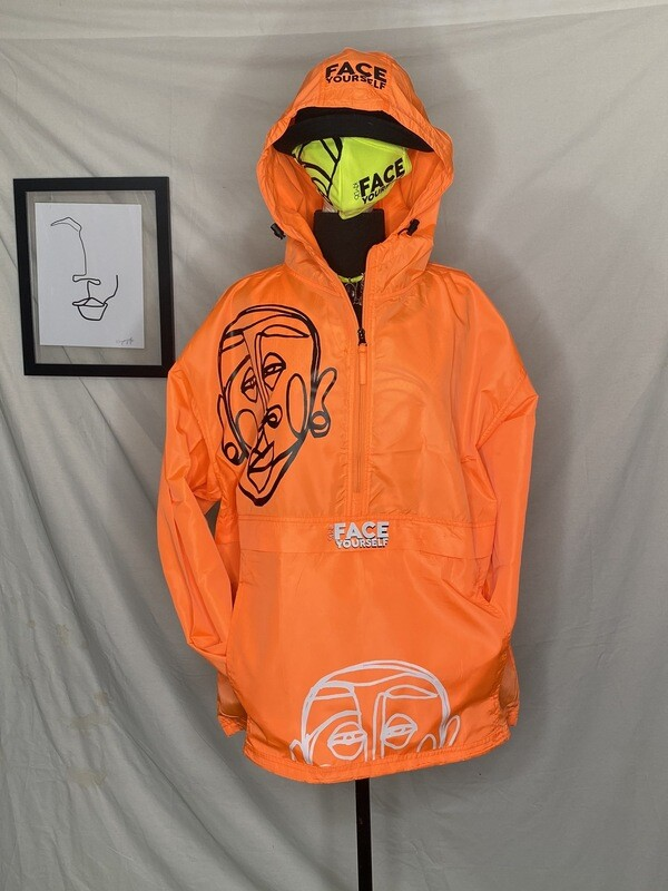 'Face Yourself' Neon Windbreaker