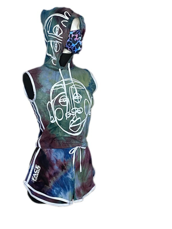 'Face Yourself' Tie Die Set